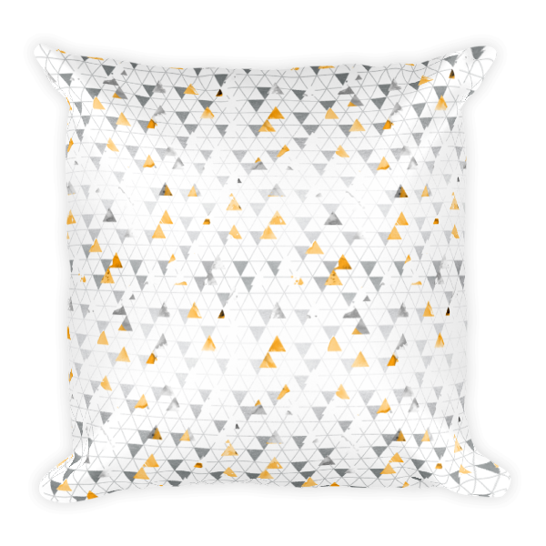 Square Pillow   Yellow Poppy Collection   09 Pattern Throw Pillow