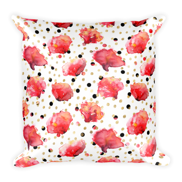 Large Flower Throw Pillow : Square Pillow Red Poppy Collection Red Poppy Flowers Large Pattern Throw Pillow - Classic ...