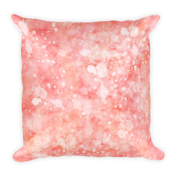Square Pillow Splatter Collection Pink Splatter Accent Throw Pillow - Classic Beauty Designs